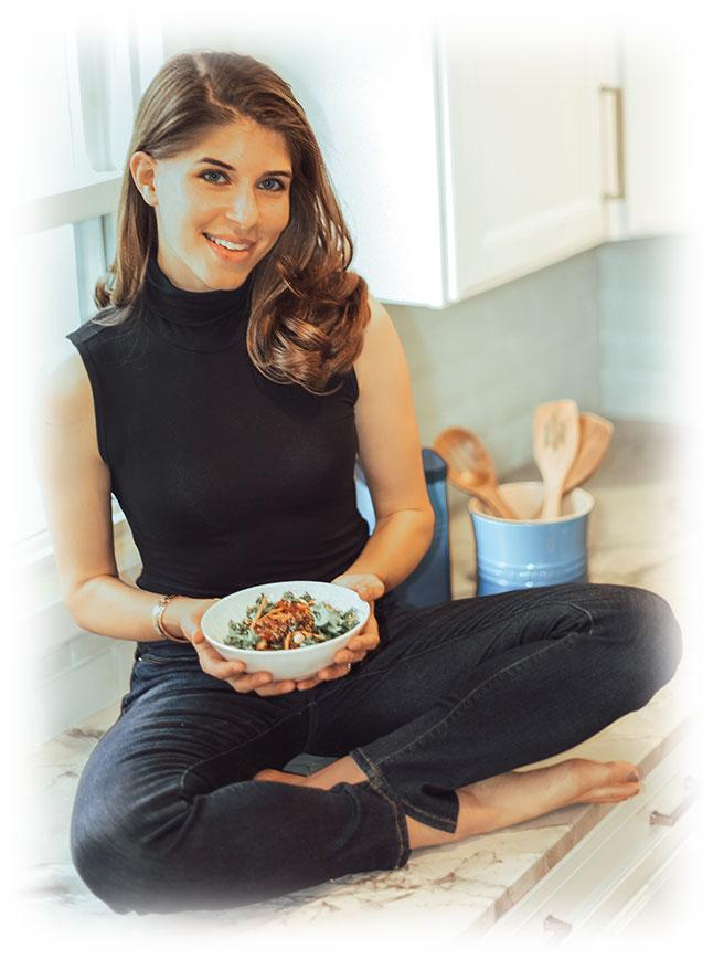 Rachel with nutritious bowl