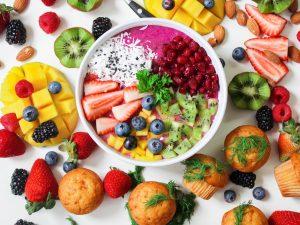 Healthy foods in a dancer's diet